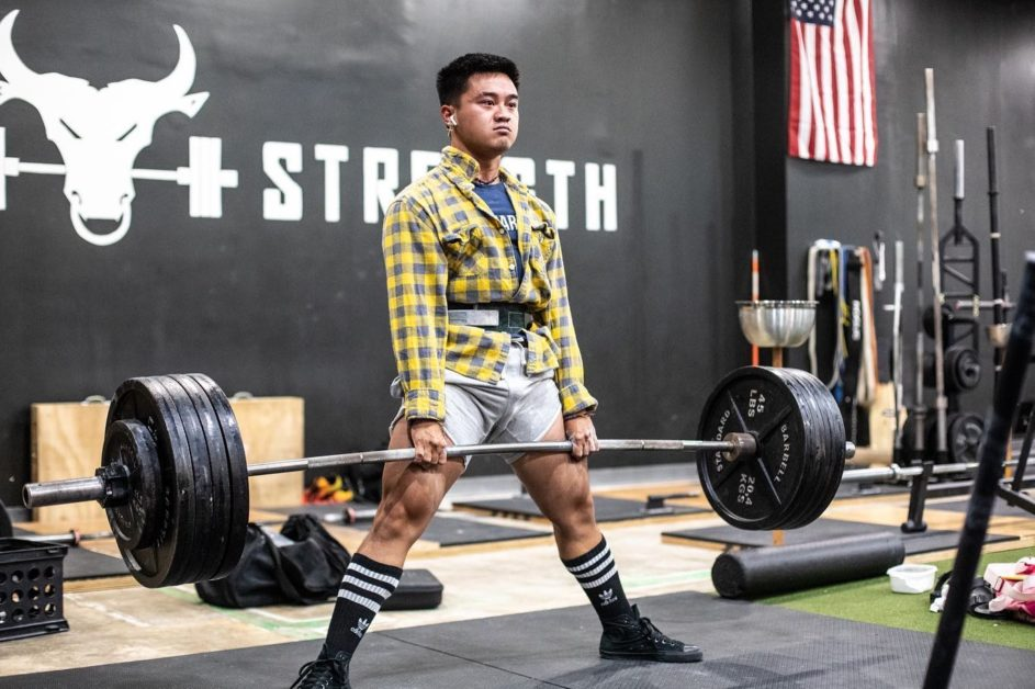 Unleash'd Strength Gym Member Deadlifiting During Event