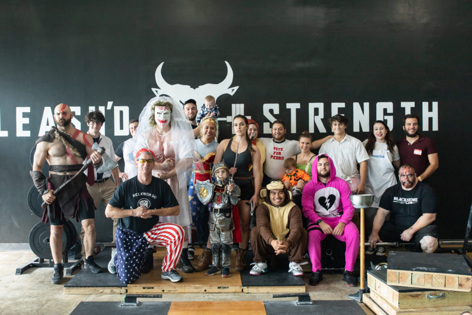 Unleash'd Strength Gym Member Group Picture For Halloween 2019