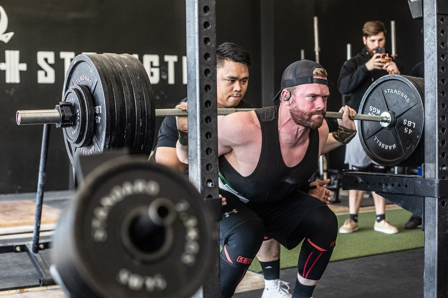 Unleash'd Strength Gym Member Squatting More Than 500 Pounds Easily
